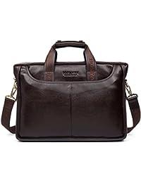 Leather Briefcase Laptop Handbag Messenger Business Bags for Men