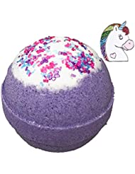 Unicorn BUBBLE Bath Bomb with Surprise Necklace Inside - in Gift Box - Kids Bath Fizzy By Two Sisters Spa - Homemade by Moms in the USA