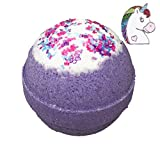 unicorn Unicorn BUBBLE Bath Bomb with Surprise Necklace Inside - in Gift Box - Kids Bath Fizzy By Two Sisters Spa - Homemade by Moms in the USA