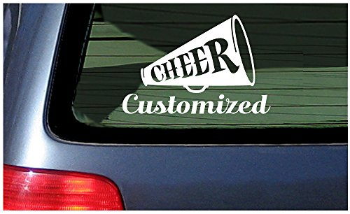 Cheerleader Vinyl Decal - Cheerleader Sticker Window Decal Vinyl Custom Name Text Personalized Cheer Spirit Customized DIY Squad
