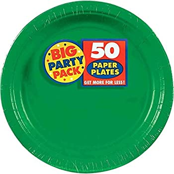 Amscan Festive Green Big Party Pack Dinner Plates (50 Count) 1 green  sc 1 st  Amazon.com & Amazon.com: Amscan Festive Green Big Party Pack Dinner Plates (50 ...