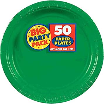 Amscan Amscan Festive Green Big Party Pack Dinner Plates (50 Count) 1  sc 1 st  Amazon.com & Amazon.com: Amscan Amscan Festive Green Big Party Pack Dinner Plates ...