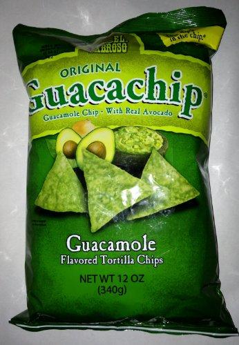 El Sabroso Guacachip, Guacamole Flavored Tortilla Chips, 12-Ounce Package ()