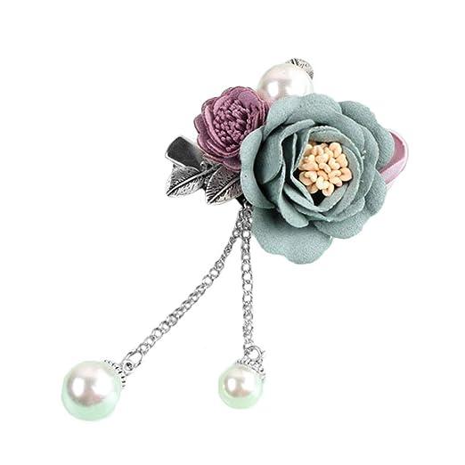 WDOIT Rose Flores Bouton Riñón Solapa Flores Boda Broche Pin para ...