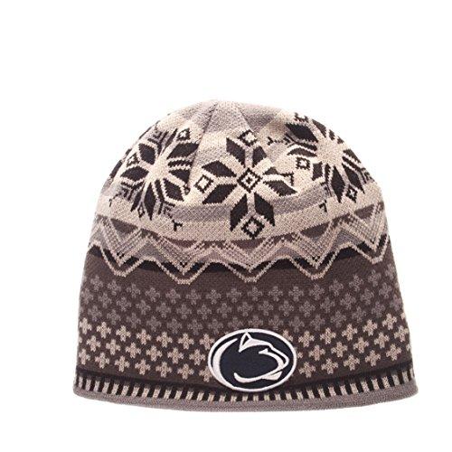 NCAA Penn State Nittany Lions Men's Oslo Knit Beanie, One Size, Black/Gray Penn State Beanie