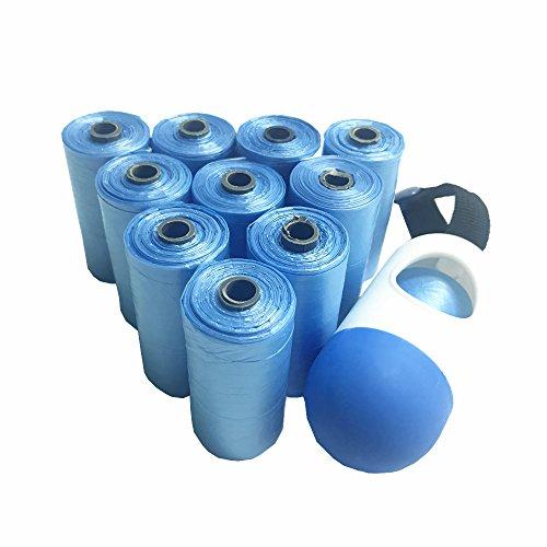 Diaper Bags,Premium Disposable Plastic Diaper Refill Bags,Baby Poof Bags,Mini Trash Bag/Can,Dispenser,Unscented,220 Count(Blue) by Carmaxs