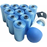 Diaper Bags,Premium Disposable Plastic Diaper Refill Bags,Baby Poof Bags,Mini Trash Bag/Can,Dispenser,Unscented,220 Count(Blue)