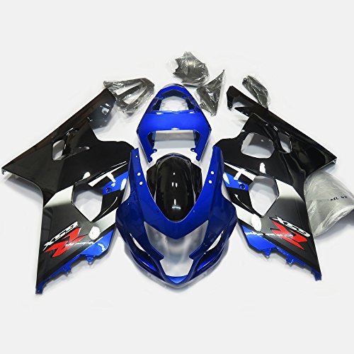 Oem Suzuki Fairings - ZXMOTO OEM Style Blue & Black Fairing Kit for Suzuki GSXR 600 GSXR 750 K4 2004 2005