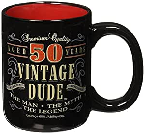 Laid Back CF11015 50th BD Vintage Dude Coffee Mug, 14-Ounce