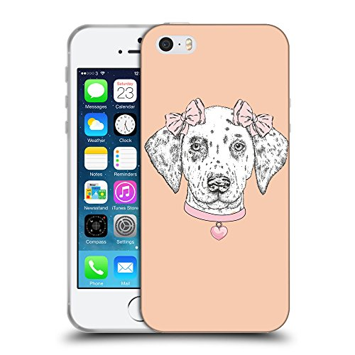 GoGoMobile Coque de Protection TPU Silicone Case pour // Q05040604 collier Chien Abricot // Apple iPhone 5 5S 5G SE