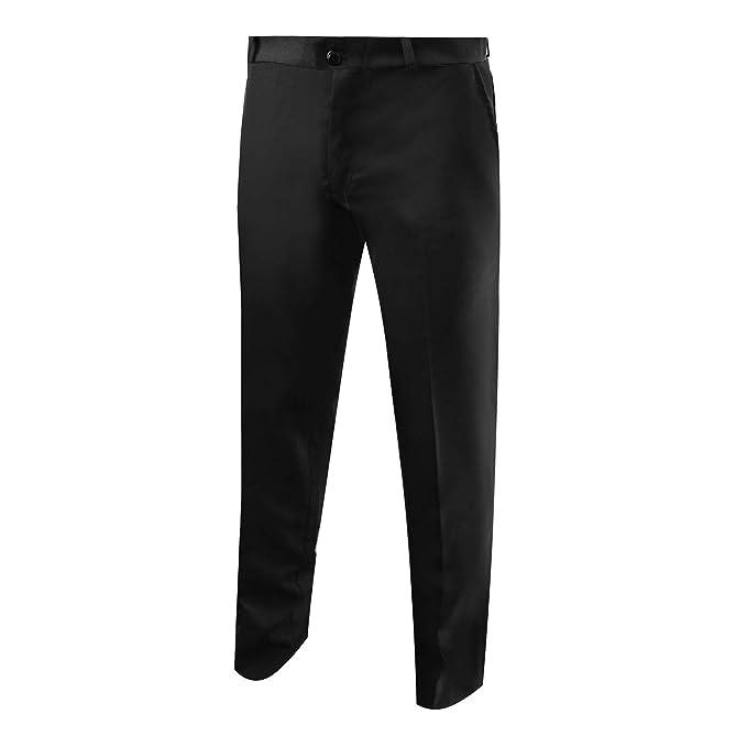 100% Poliestere 40 Isacco Pantalone Uomo senza Pinces Nero Nero 170 gr/m²