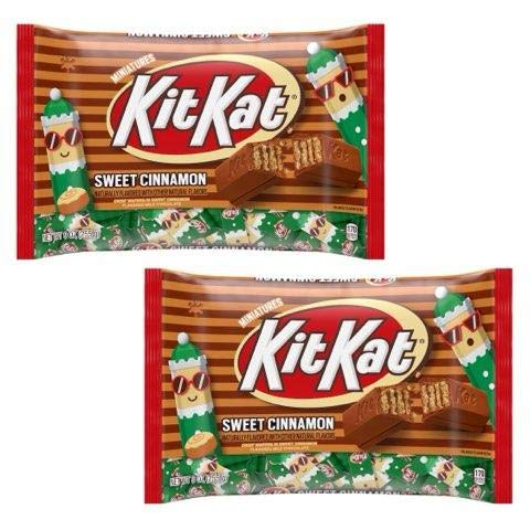 Kit Kat Sweet Cinnamon Miniatures Wafer Bar, Holiday Candy, Individually Wrapped 9 oz. Bag (Pack of 2)