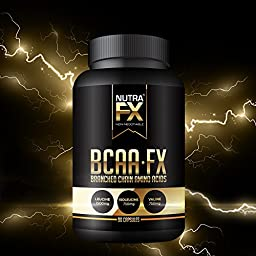 NutraFX BCAA Capsules Branched Chain Amino Acids Supplements Lean Muscle Building Supplements 3000mg 2:1:1 Ratio (90-Capsules)