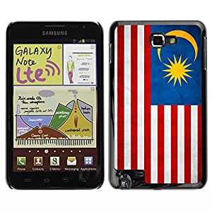 Shell-Star ( National Flag Series-Malaysia ) Fundas Cover Cubre Hard Case Cover para Galaxy Note / i717 / T879 / N7000 / i9220