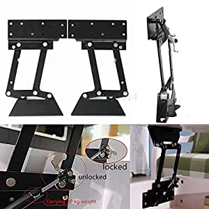 Black Metal Folding Lift Up Coffee Table Mechanism Furniture Hinge Spring NEW
