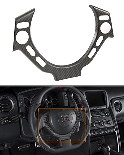 Cuztom Tuning Matte Dry Carbon Fiber Steering Wheel Center Trim Cover Fits for 2009-2016 Nissan GTR R35