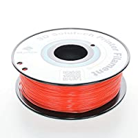 3D Solutech 3DSPLA175STRED See Through Red 3D Printer PLA Filament, Dimensional Accuracy +/- 0.03 mm, 2.2 lb. (1.0 kg) - 100% USA, 1.75 mm, PLA, Red from 3D Solutech
