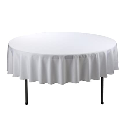 Incroyable E TEX Round Tablecloth U2013 70 Inch U2013 White Round Table Cloth For Circular  Table