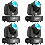 MFL B60 DJ Moving Head Light Led Beam 60W RGBW + YELLOW + PURPLE 6 Colors Stage Lighting for Large Venue Arena School Gym Party Live Concert 4pcs with ROAD CASE