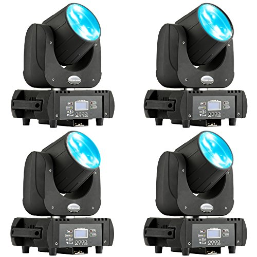 MFL. DJ Moving Head Wash Led Light Moving Head Light Led Beam RGBW Yellow Purple DMX 11 Channels B60 Stage Lighting with Road Case for DJ Church Wedding Party Live Concert 4pcs 60W