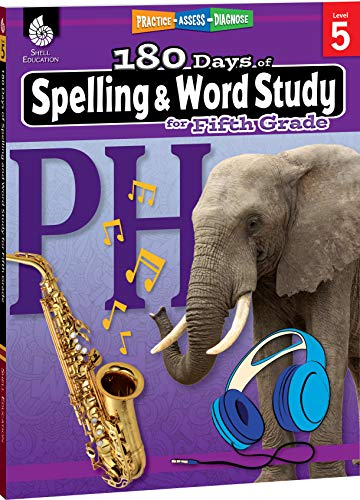 180 Days of Spelling and Word Study for Fifth Grade (Grade 5): Practice, Assess, Diagnose