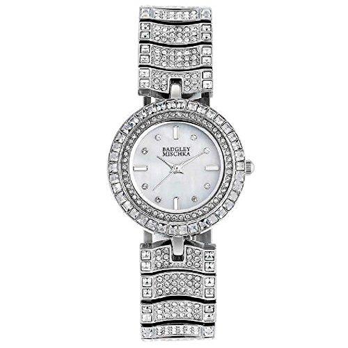 new-badgley-mischka-sparkling-swarovski-crystal-ladies-watch-in-silver-tone-finish