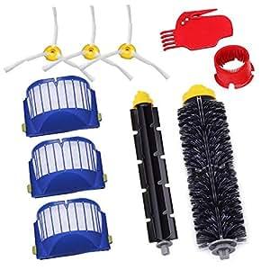 GHB Pack Kit Cepillos Repuestos de Accesorios para Aspiradoras iRobot Roomba Serie 600 10PCS