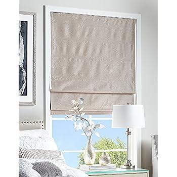 39 W x 64 L Ivory Curtainworks Damask Window Shade