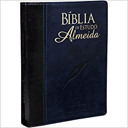 Bíblia de Estudo Almeida (Biblia de Estudio Almeida) / Almeida Study Bible (Portuguese Edition) (Portuguese) Leather Bound – January 1, 2017