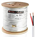 Mediabridge 12AWG 2-Conductor Speaker Wire (500 Feet, White) - 99.9% Oxygen Free Copper - UL Listed CL2 Rated for In-Wall Use (Part# SW-12X2-500-WH )
