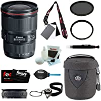 Canon EF 16-35mm f/4L IS USM Lens + 77mm UV Protector + 77mm Circular Polariz...