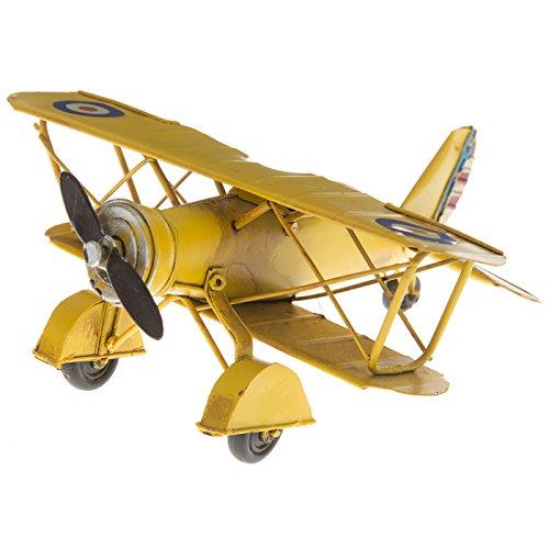 Mini Yellow Metal Biplane ()