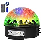 COLOR'SAGE DJ Disco Lights Bluetooth Ball Stage Light Led Crystal Rotating Sound Activated Projector Strobe Lighting with Remote for KTV Club Home Birthday Wedding Party