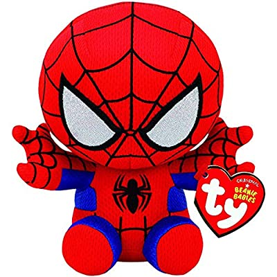 Set of 4 Ty Marvel Beanie Baby Spider-Man, Hulk, Iron Man & Captain America: Toys & Games