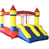 Yard Inflatable Bounce House Castle Jumper Moonwalk Bouncer With Blower, Commercial Grade Kids Slide Jumper Playhouse, 11.8' x 8.2' x 6.9' offers
