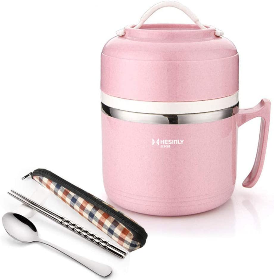 Stainless Steel Lunch Box, Insulated Lunch Box with lid Bowl Student Small Children's Rice Bowl-C