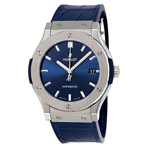 Hublot Classic Fusion Blue Sunray Dial Titanium Automatic Mens Watch 511.NX.7170.LR