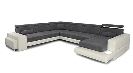 Sofa Couch Wohnlandschaft Leder Xxl Designsofa Stoff Ecksofa U Form