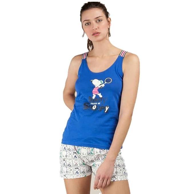 GISELA Pijama de Mujer con Tirantes Snoopy 2/1506: Amazon.es: Ropa y accesorios
