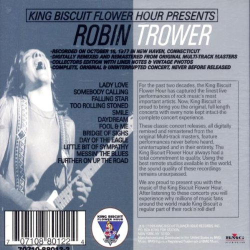 King Biscuit Flower Hour Presents: Robin Trower In Concert by King Biscuit Flower Hour Records