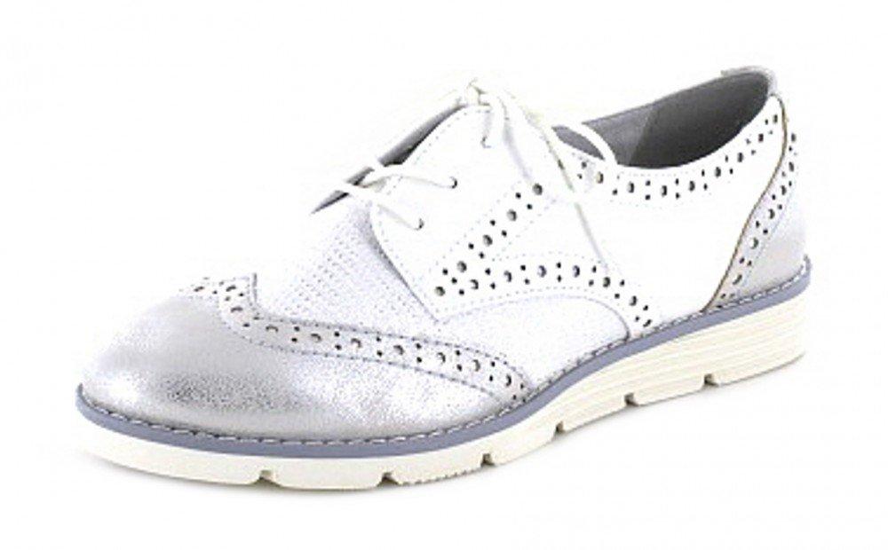 s.Oliver 5/5-23623/20 110 - Zapatos de cordones de Material Sintético para mujer Weiß 37 EU|Weiß (Weiß)