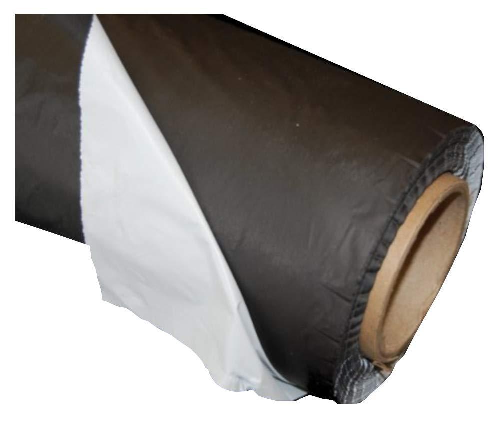 Grower's Solution White on Black Plastic Mulch 1.0 mil Embossed - 4 ft x 100 ft