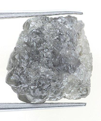 9.56 Ct Natural Rough Loose Silver Gray Color Sparking Diamond by Kakadiya Group