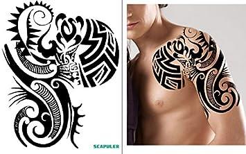 Arm Schulter Tribal Tattoo Temporar Oberarm Tattoo Aufkleber Pc017