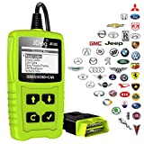 JDiag JD101 OBDII Code Reader Auto Scanner Car Engine Diagnostic Tool Check Engine light Erase Fault Codes Suitable for EOBD Vehicles with Battery Testing Function