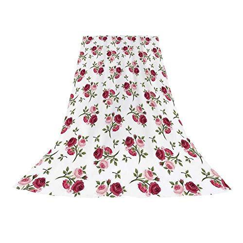 (YOLIYANA Roses Decorations Stylish Beach Towel,Pattern with Rose Stems Flowers Garden Classic English Style Design Repeat Art Decorative for Beach,57