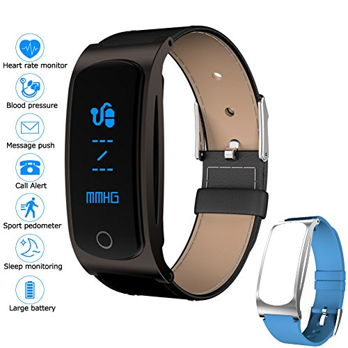 Kingstar Waterproof Fitness Tracker Watch, Smart Bracelet Pedometer Wristband Bluetooth Wireless Activity Tracker with Heart Rate Blood Pressure Sleep Monitor for Android IOS Smart Phones by Kingstar