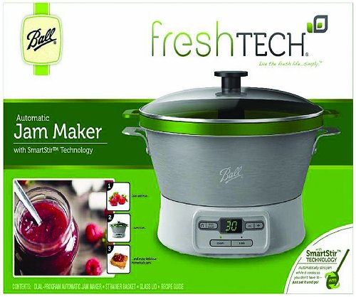 JARDEN HOME BRANDS 1440035005 BALL FRESHTECH AUTOMATIC JAM MAKER WITH SMARTSTIR