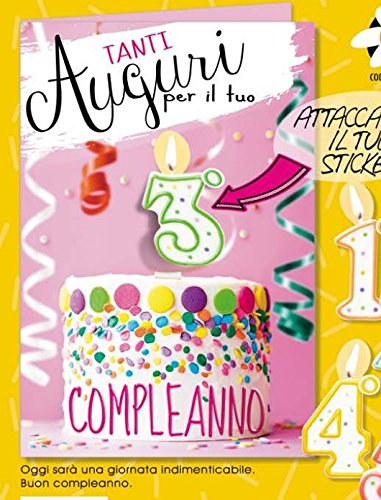 Tarjeta Felicitación cumpleaños niña de 1 a 5 años con ...