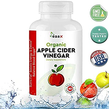 Usda Organic Apple Cider Vinegar Capsules 800mg 60 Acv Weight Loss Pills Appetite Control Suppressants